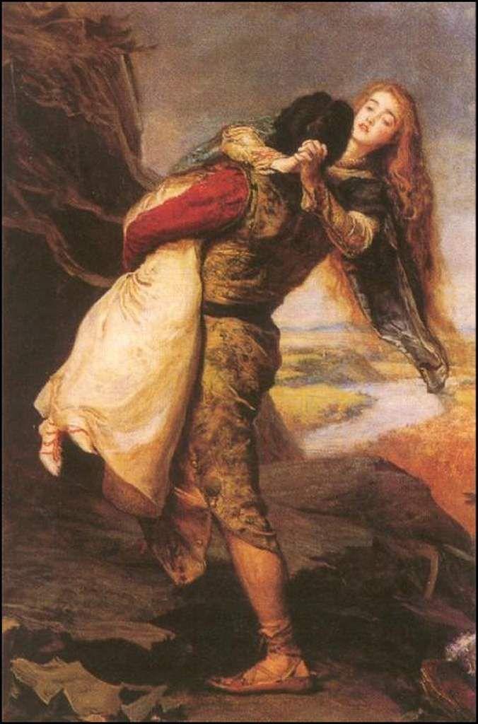 Amoureux en peinture - John Everett Millais (1829-1896) - La couronne de l'amour