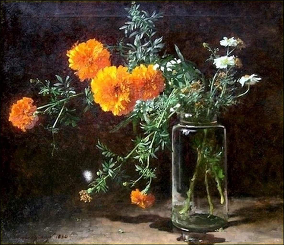 Les fleurs par les grands peintres (57) - Adolphe Louis-Napoléon Castex-Dégrange (1840-1918)