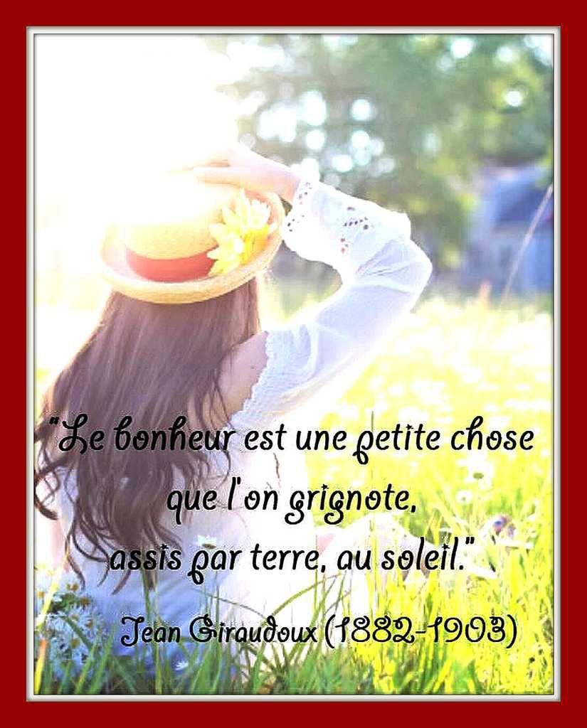 Citation &quot&#x3B;bonheur&quot&#x3B; de Jean Giraudoux