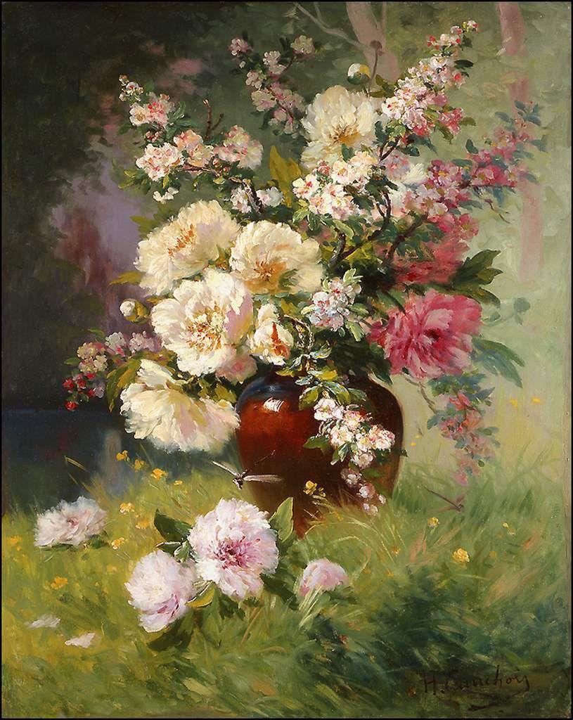 Les fleurs par les grands peintres (58) - Eugène Cauchois (1850-1911)