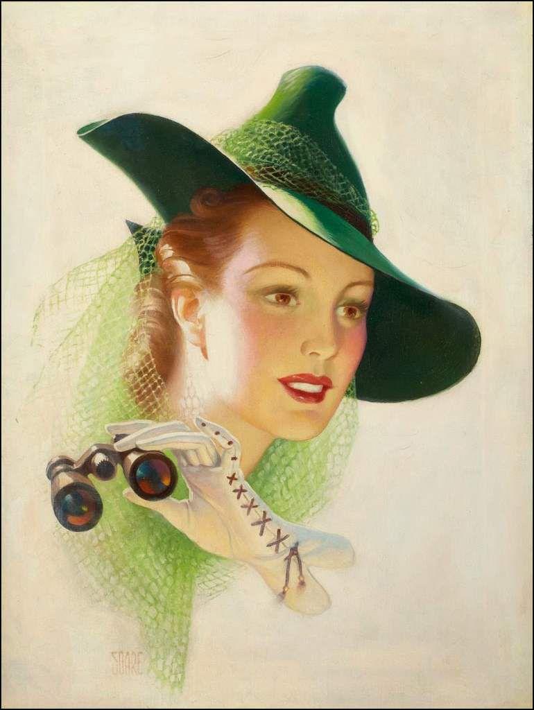 Femmes à chapeau par les grands peintres (340)