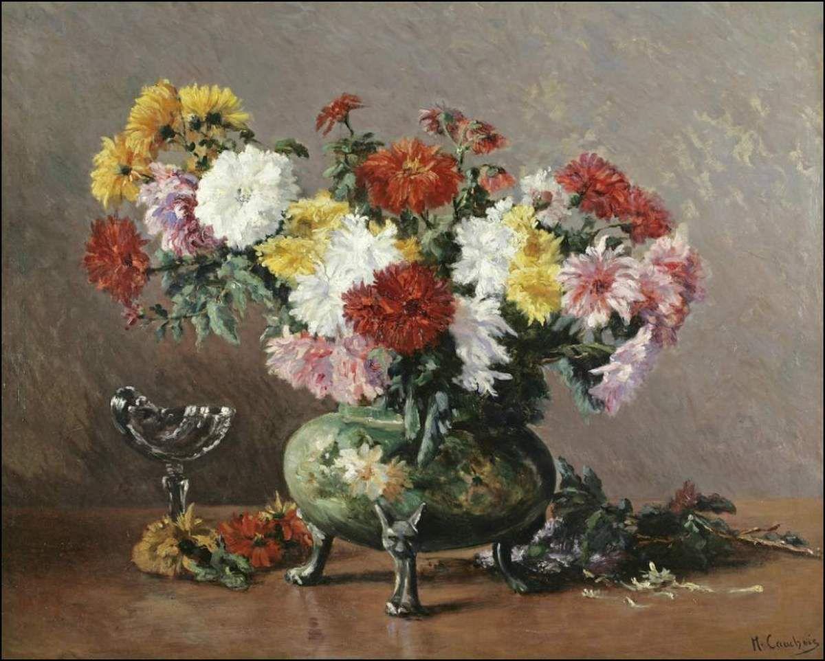 Les fleurs par les grands peintres (63) - Eugène Cauchois (1850-1911)