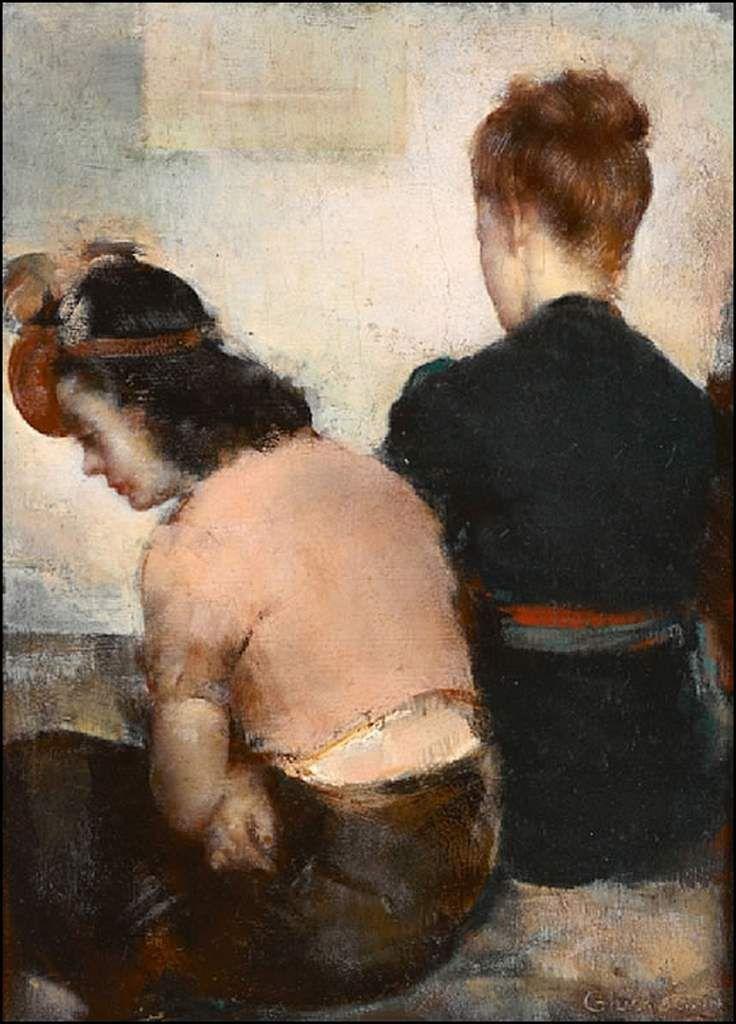 Femmes à chapeau par les grands peintres (346)