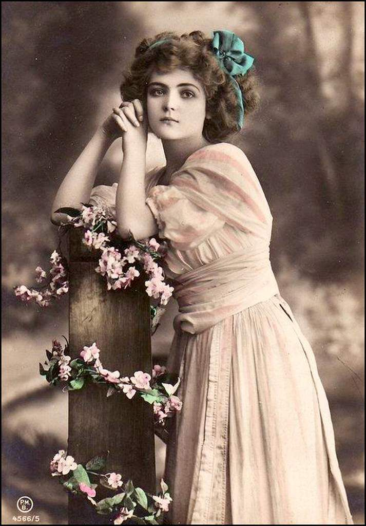 vintage romantique - femme