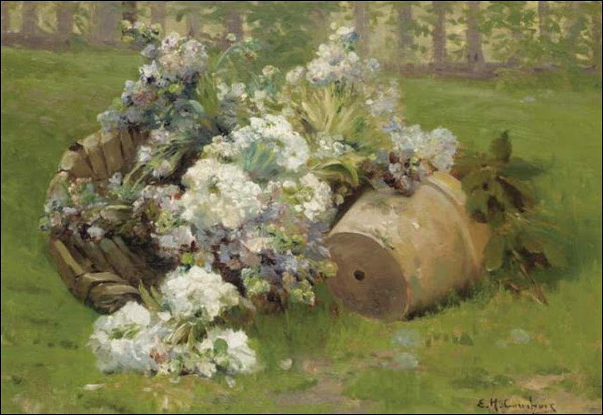 Les fleurs par les grands peintres (71) - Eugène Cauchois (1850-1911)