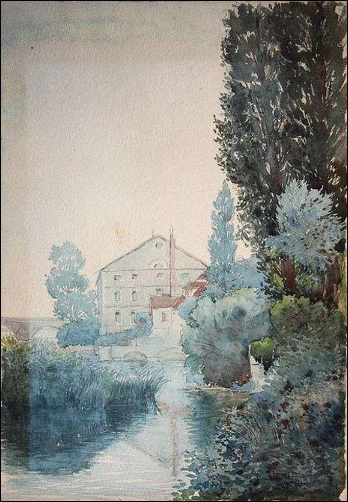 Albert Billardelle (1875-1922) Le Moulin Barraux à Dole