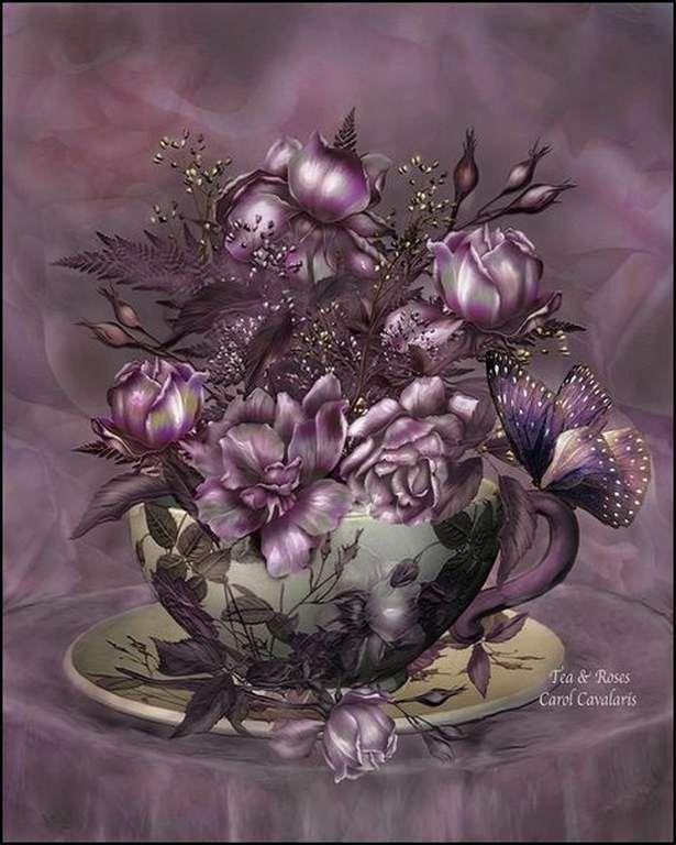 Les fleurs par les grands peintres (74) - Carol Cavalaris