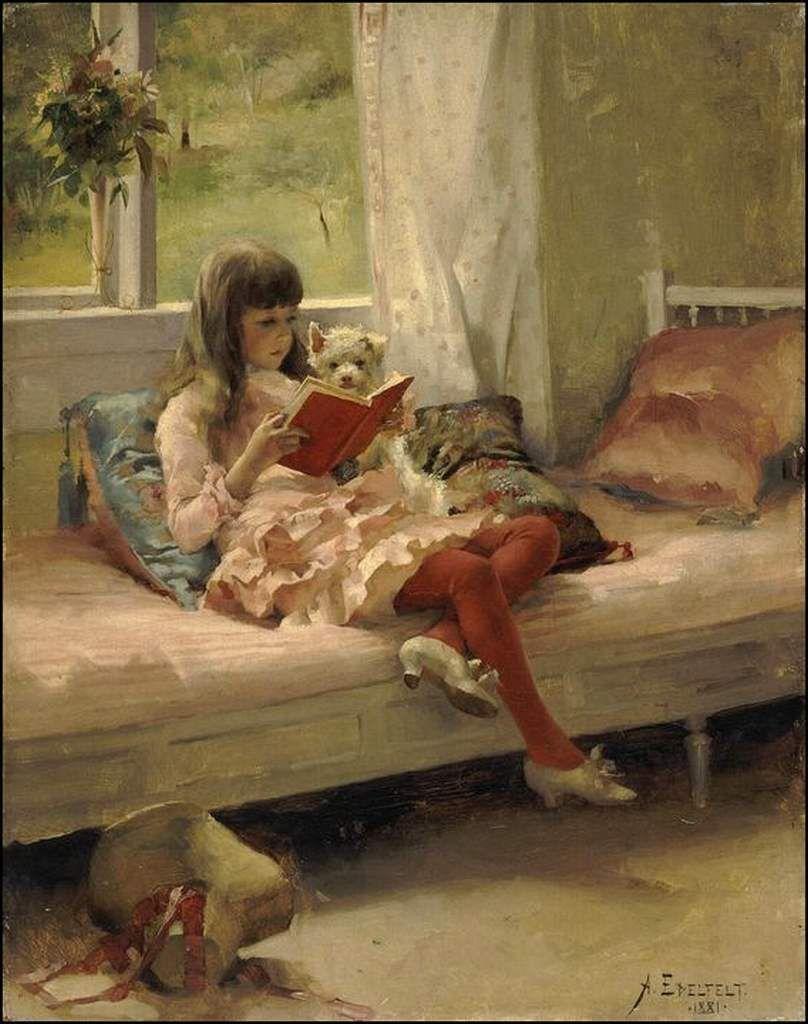 Enfants et animaux par les peintres - Albert Edelfelt (1854-1905)