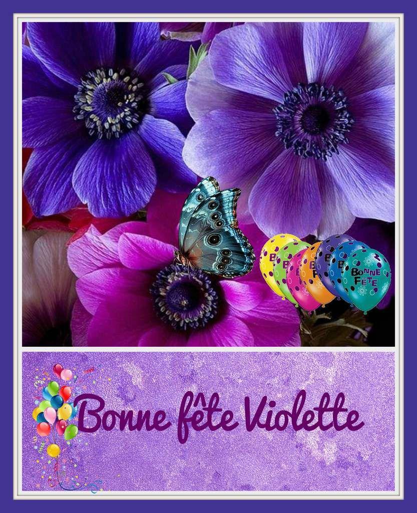 Gifs Bonne Fête Prénom Violette 5 Octobre Balades Comtoises