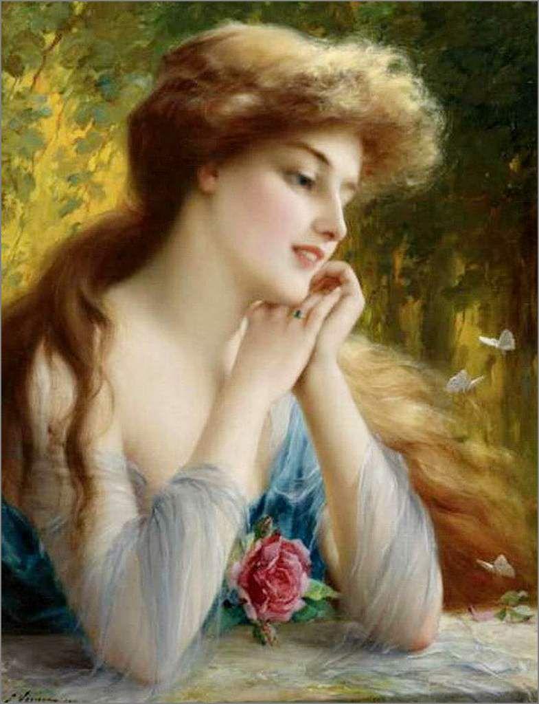 Cartes illustrées vintage femmes - Emile Vernon (1872-1920)
