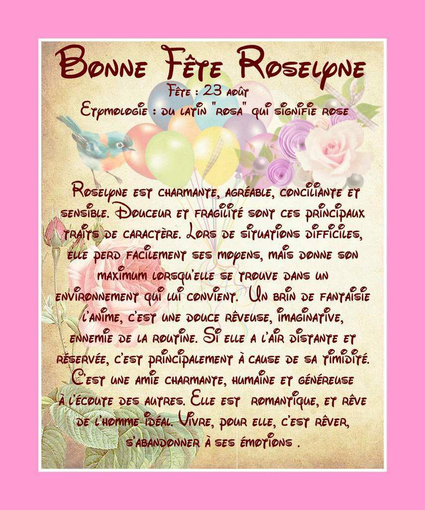 Carte Bonne Fete Roselyne.Carte Bonne Fete Roselyne 23 Aout Balades Comtoises