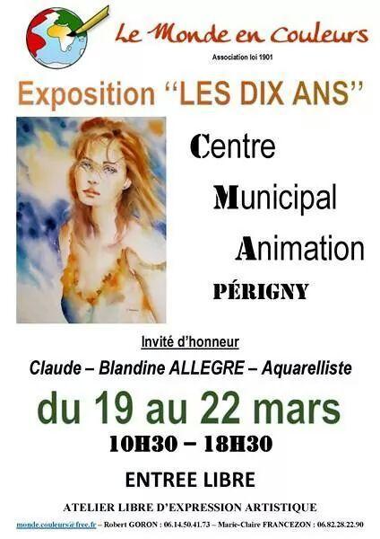 Expo à Périgny (17) avec l'association &quot&#x3B;Le Monde en Couleurs&quot&#x3B;