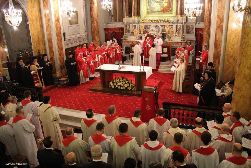 Le Pape François dans la cathédrale du Saint-Esprit d'Istanbul, 29 novembre 2014