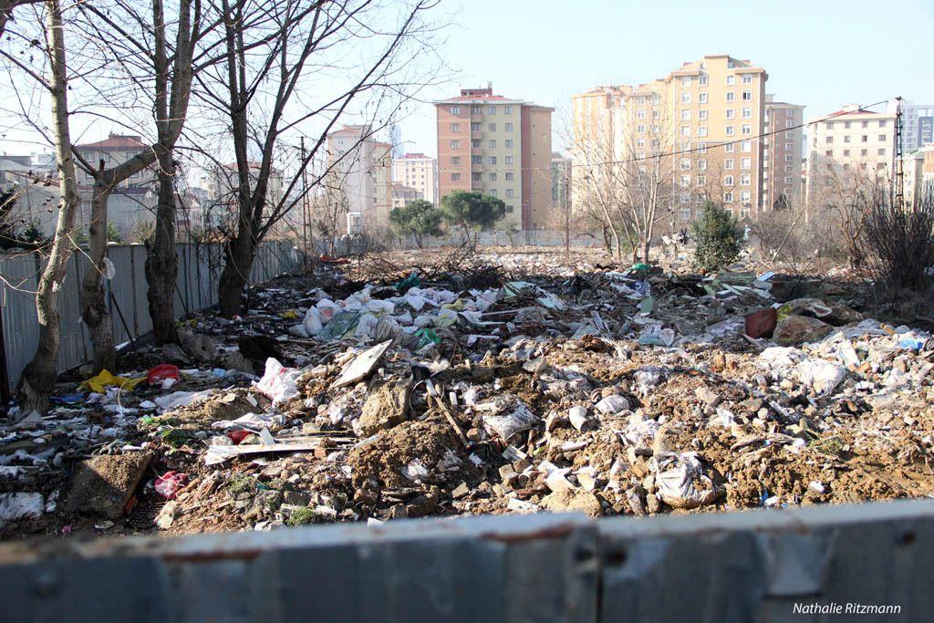 17 janvier 2015, 11 jours après la démolition des maisons des roms d'Ataşehir à Istanbul