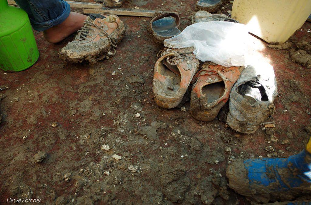 Des conditions de vie plus que difficiles ces dernières semaines pour les réfugiés syriens d'Adana confrontés à des pluies torrentielles - crédit photos Hervé Porcher
