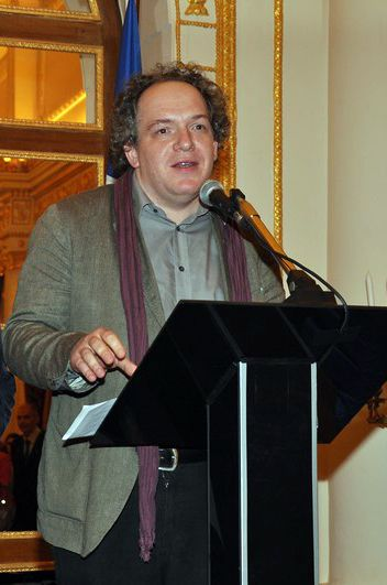 Mathias Enard au Palais de France d'Istanbul en 2012, photo site NDS