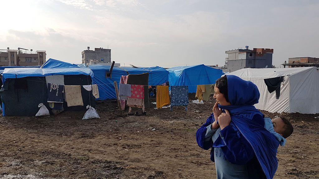 Camp non-gouvernemental de réfugiés d'Adana, décembre 2017
