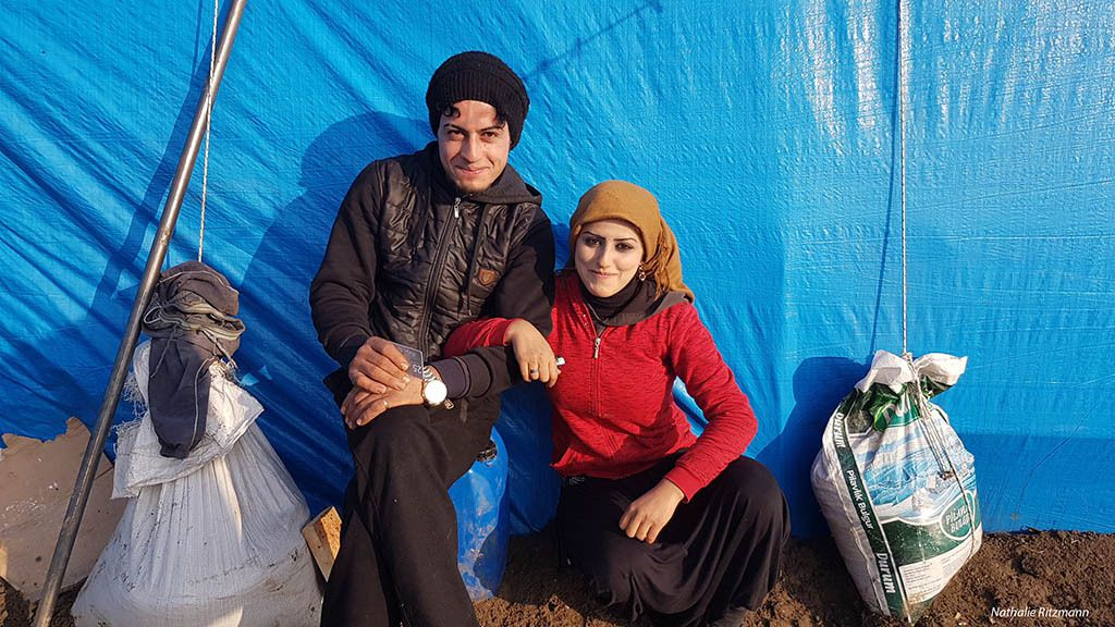 Réfugiés syriens dans le camp d'Adana