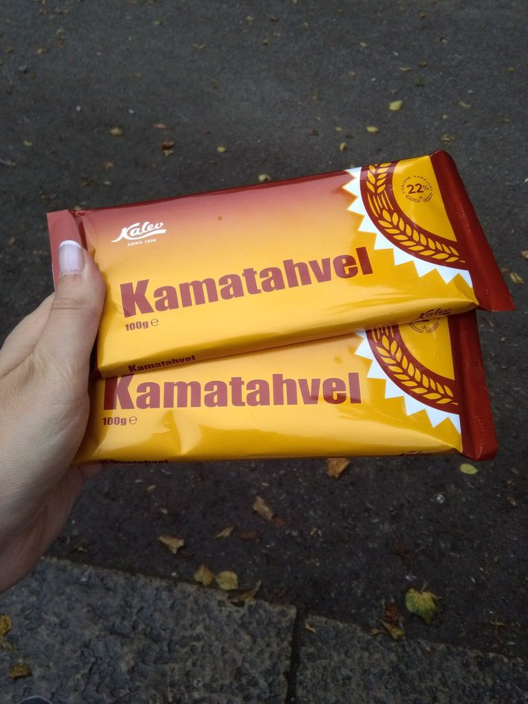 Sucedáneo de chocolate llamado Kamatahvel.