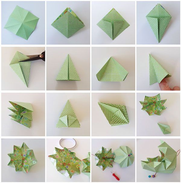 Pin photo album papier coton on pinterest - Papier origami noel ...