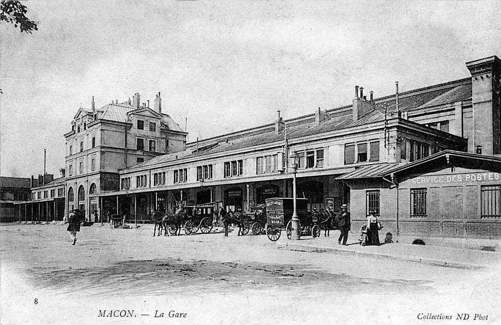 La gare de Mâcon au début du XXème siècle