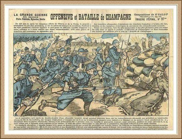 La Bataille de Champagne de septembre 1915 - Image d'Epinal