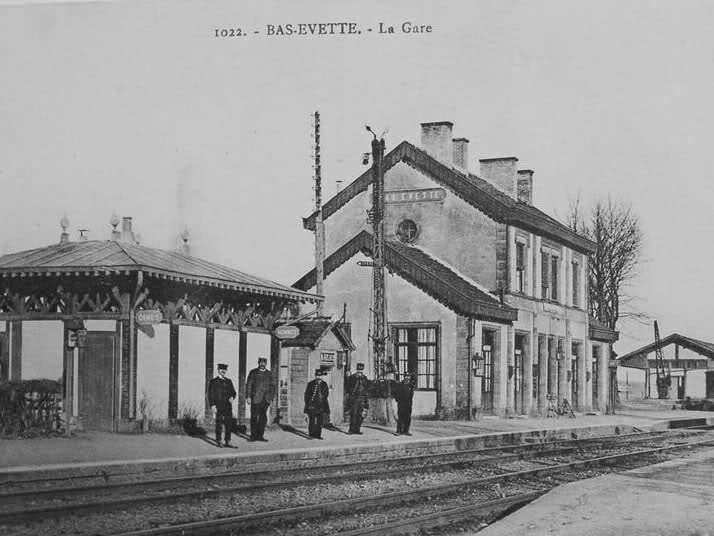 Gare de Bas-Evette au début du XXème siècle