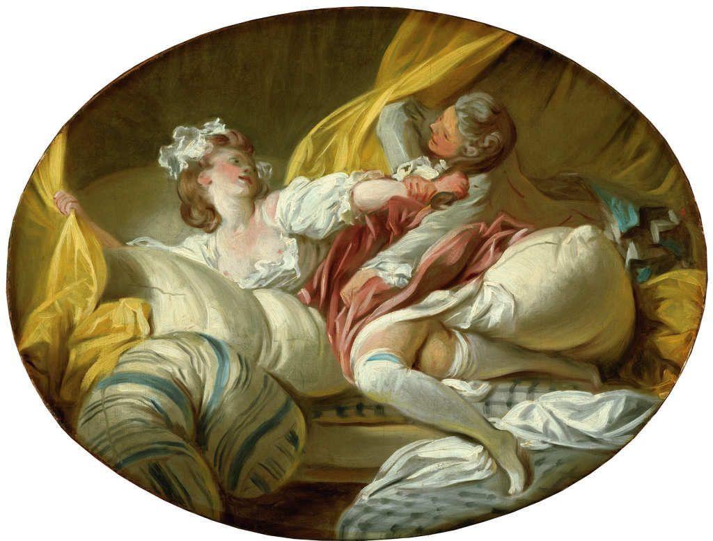 """""""La Résistance inutile"""" vers 1770-73 - huile sur toile 45X60cm - Stockholm Nationalmuseum"""