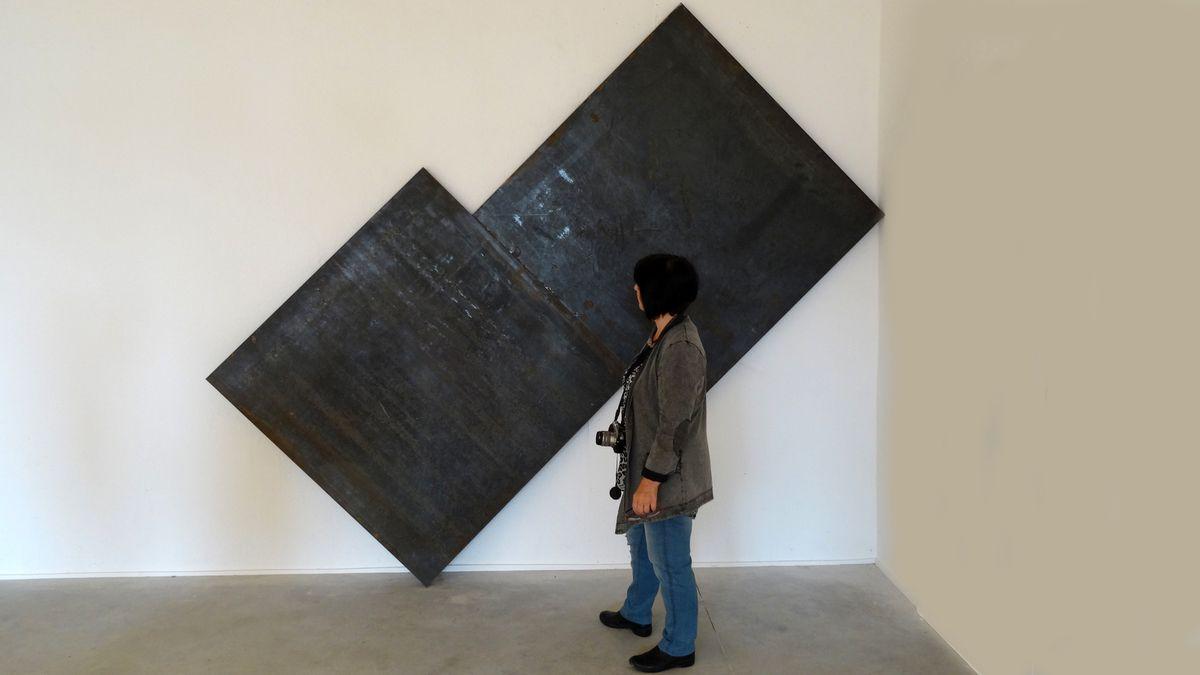 """Richard SERRA - né en 1939 à San Francisco - """"Basic source"""" (au Musée Guggenheim de Bilbao Richard Serra expose son oeuvre monumentale :  """"La matière du temps"""")"""