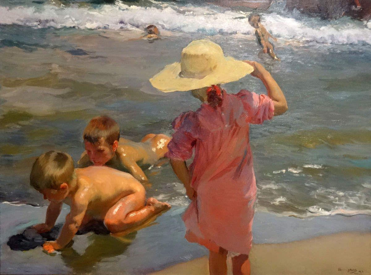1903 - Enfants au bord de la mer