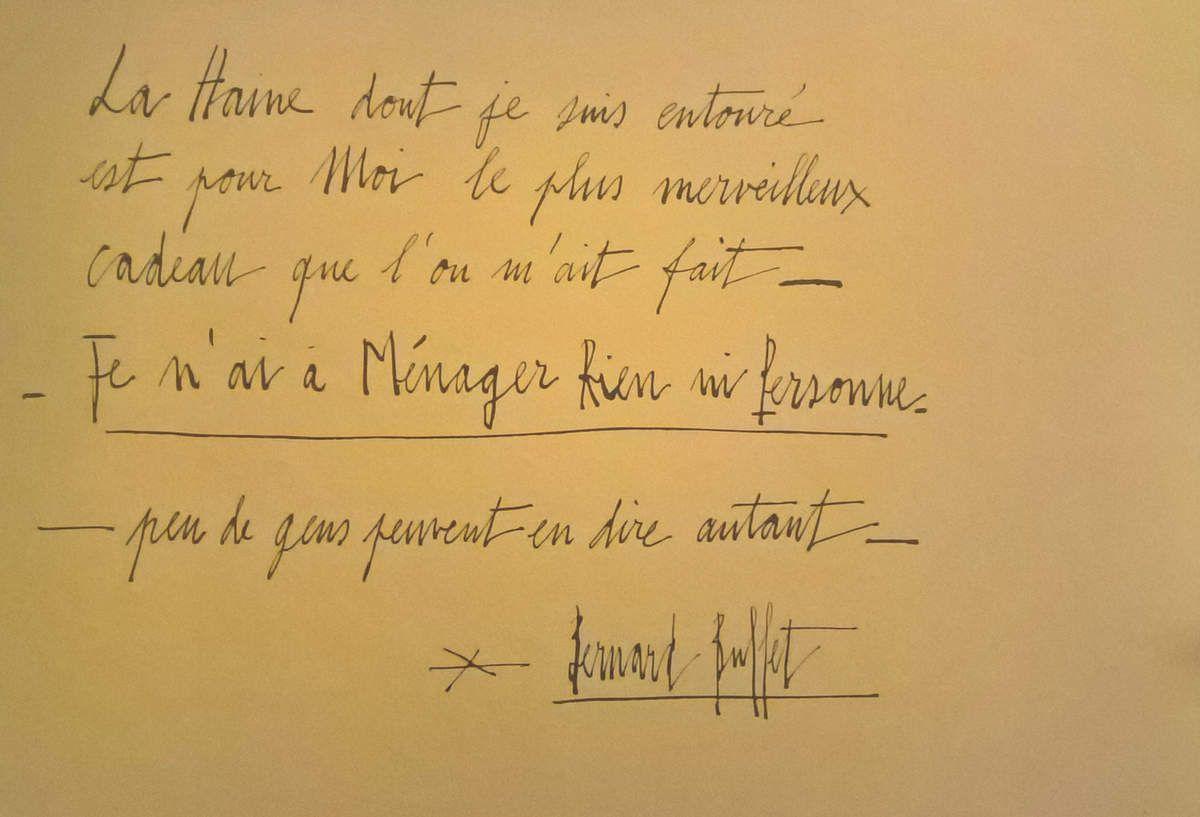 BERNARD BUFFET - MAM PARIS - NOVEMBRE 2016
