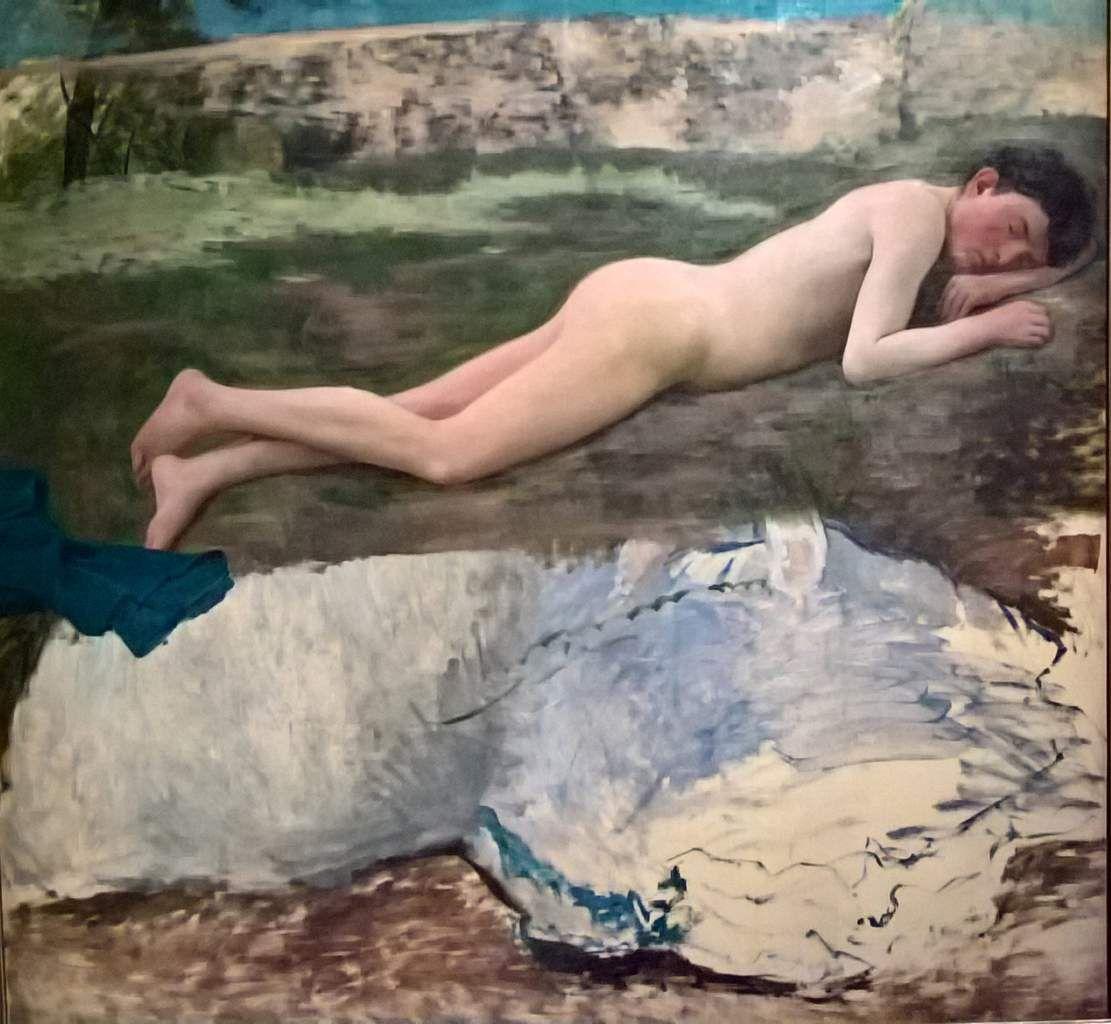 Jeune Homme nu couché sur l'herbe - vers 1867 - huile sur toile - 147x139 - Montpellier Musée Fabre