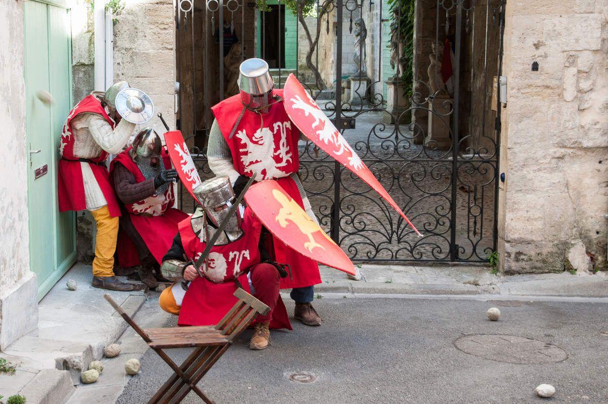 Crédit photographique : Patrick Gantz - Visite théâtralisée Siège de Beaucaire - Compagnie Afikamaya
