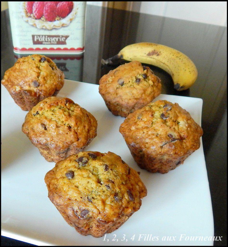 Muffins Banane - chocolat