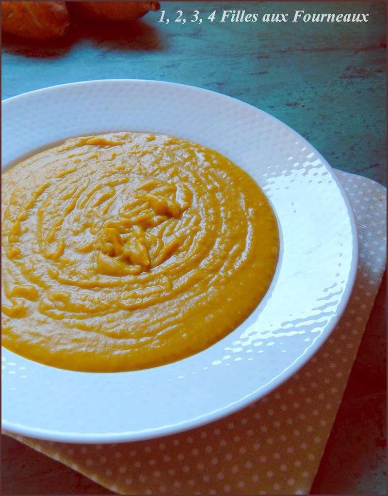 Velouté patate douce et orange  (réalisé avec le thermomix ou pas)