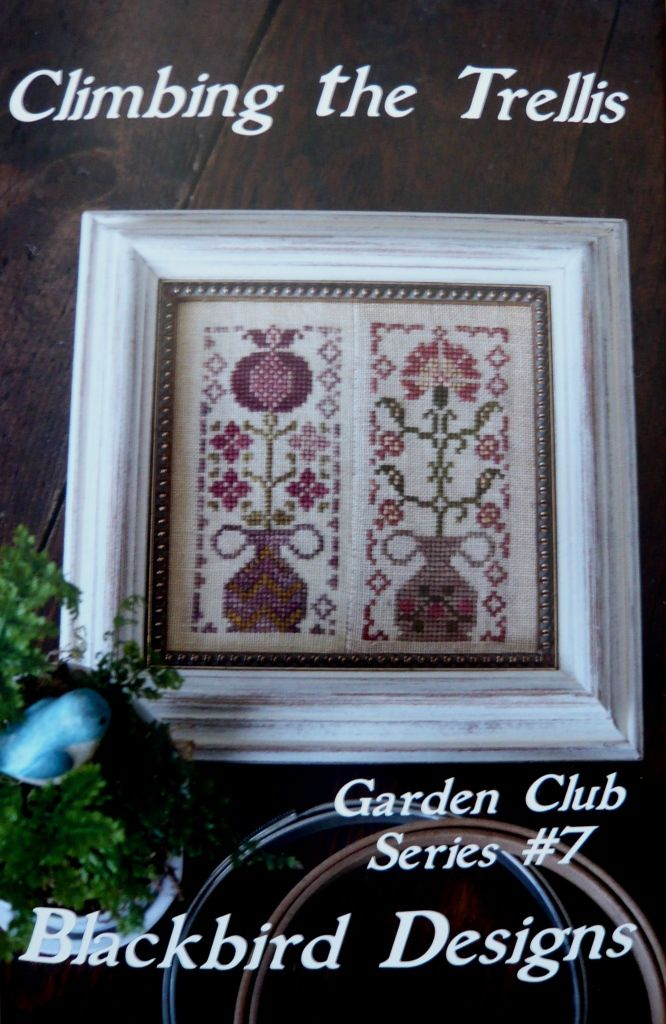 Garden Club series #7 Climbing the trellis. Blackbird designs