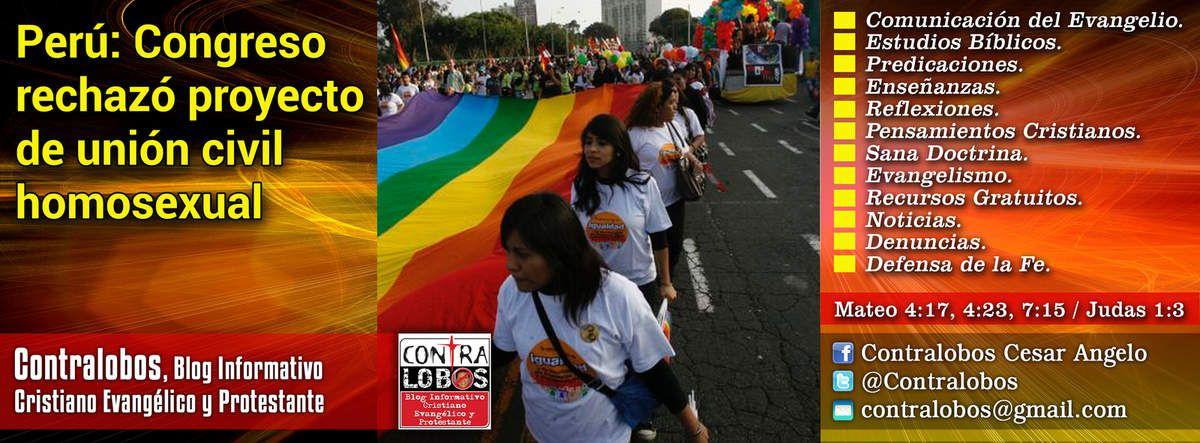 Perú: Congreso rechazó proyecto de unión civil homosexual