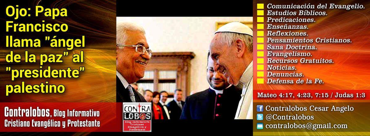 Ojo: Papa Francisco llama &quot&#x3B;ángel de la paz&quot&#x3B; al presidente palestino