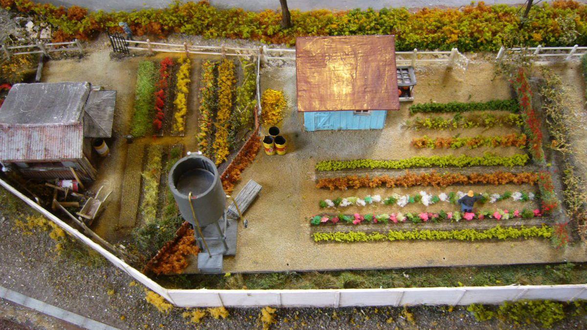 photo 384 quelle patience pour reproduire ces jardins de cheminots!!!