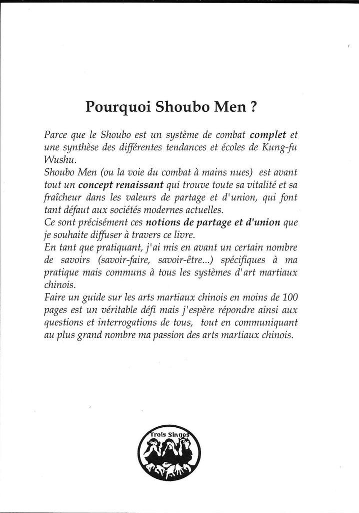 recto de la couverture du guide Shoubo Men