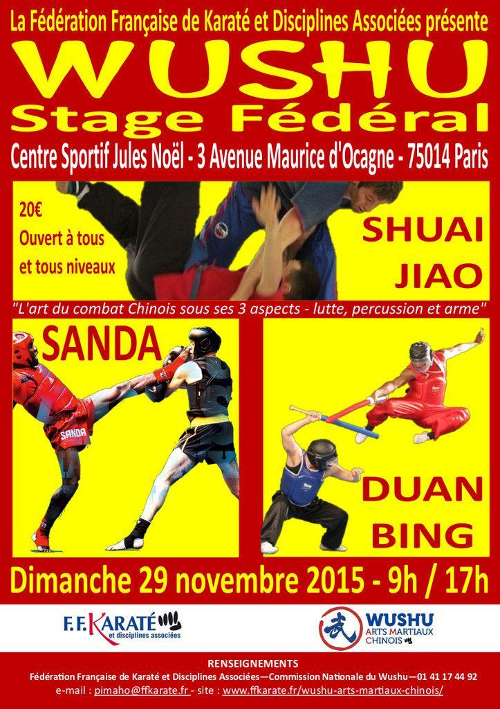 Wushu stage fédéral