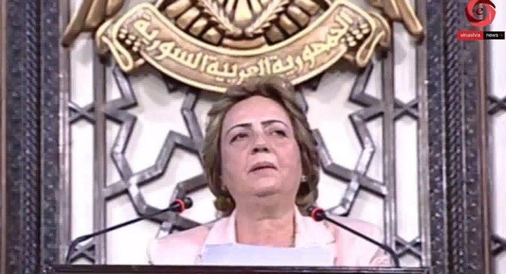 en syrie une femme pr sidera le parlement pour la premi re fois le blanc et le noir. Black Bedroom Furniture Sets. Home Design Ideas