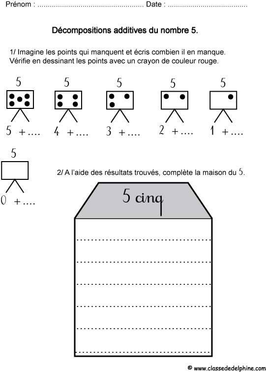 Décompositions additives du 5 au CP