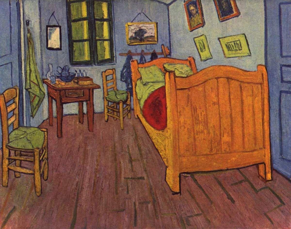 Arts Visuels Chambre De Vincent Van Gogh   Fond Pour Réalisation   Le Blog  De Delphine
