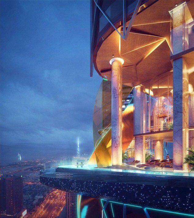 Un hôtel de luxe avec sa propre fôret tropicale ... à l'intérieur !