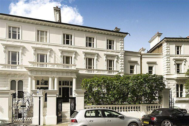 This 7-bed house is in The Boltons in London's Chelsea and is for sale for £49.5million via estate agents Aylesford