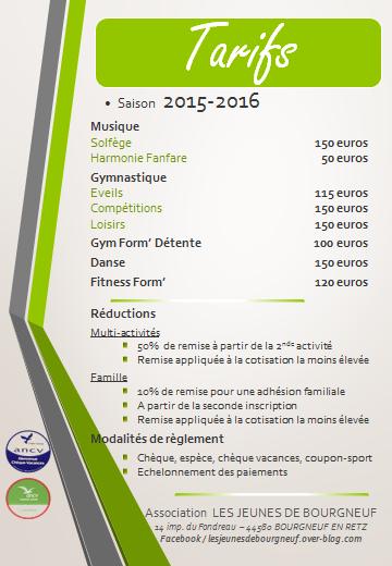 reprise des activités pour la saison 2015-2016