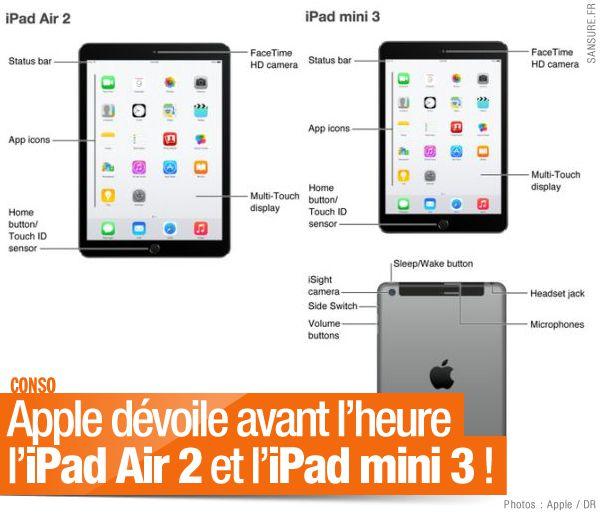 Apple dévoile avant l'heure l'iPad Air 2 et l'iPad mini 3 ! #fail