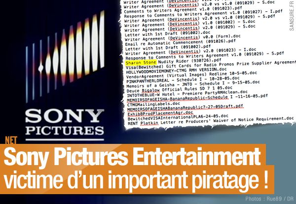 Sony Pictures Entertainment victime d'un important piratage ! (mis à jour) #SPEData