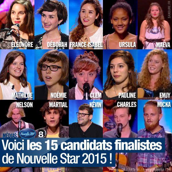 Voici les 15 candidats finalistes de Nouvelle Star 2015 ! #NouvelleStar